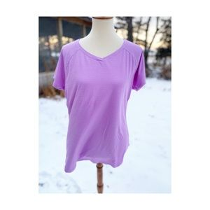 Activewear T-Shirt Mauve Lilac Scrub Top Sports